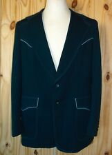 Lee Men's Blazer Jacket Vintage Western Blue Piping Rockabilly 44L Excellent