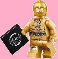 LEGO STAR WARS 75136 MINIFIGURE : C-3PO + DEATH STAR PLAN - BRAND NEW