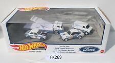 Hot Wheels Premium Ford Race Team Set ESCORT C-800 Truck Fnqhotwheels Fk269