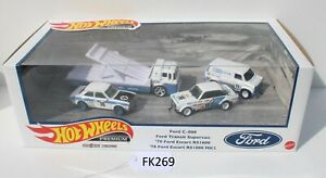 Hot wheels Premium Ford Race Team Set Escort, C-800 Truck FNQHotwheels FK269