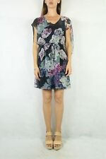 WAYNE COOPER Purple Navy Floral Dress Size 10