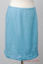 L137/10 Gap Blue Turquoise 100% Linen Hypoallergic Skirt, age 14-16 UK 8