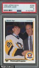 1990 Upper Deck #356 Jaromir Jagr Pittsburgh Penguins RC Rookie PSA 9 MINT