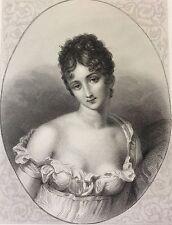 Madame Récamier  d'après le  baron Gérard  gravé par Geoffroy 1863