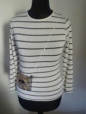 J Jeans Jasper Conran Long Sleeve Blue & White Stripe Top Handbag Design 9 - 10