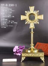 Brass Monstrance Reliquary with Tabor Pedestal TP-8-X90-1