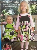 Olive Ann Sewing Pattern 0060 Girls Dress Jumper Babydoll Outfit Size 6m-5Y UC