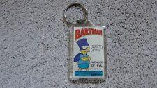 """1989 Simpsons, """"BARTMAN"""" Keychain, """"Avenger of Evil"""""""