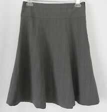 New Grace Elements Skirt Gray Plaid A-Line Large Waist band Size 6