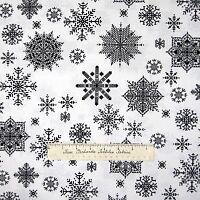 Christmas Fabric - Winter Essentials II Snowflakes Black White - StudioE YARD