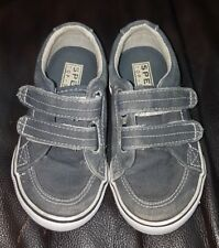 Sperry Top-Sider Boys Halyard H&L Shoes Gray Canvas Kids Slip On Size 7M