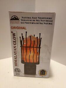 Himalayan Glow 1802 Natural Salt lamp, Pillar Nightlight, Wall Plug in, 360 R...
