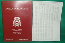 catalogue vente enchères VERSAILLES Tableaux modernes + liste prix de vente (15)