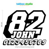 Numeri gara adesivi moto numbers name pegatinas Custom race Stickers racing