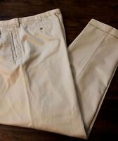 Savane Mens Pleated Front Straight Chino Pants 1033E326 Tan Size 38x34