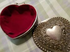 silver toned heartshaped trinket box