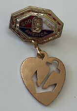 Vintage WWII Sweetheart Lapel Pin US NAVY USN Patriotic Homefront Jewelry ANCHOR