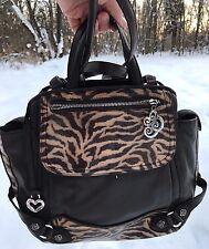 BRIGHTON LEEZA PATENT & LEATHER SHOULDER BAG BACKPACK  ORGANIZER SHOULDER BAG **