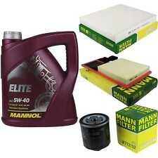 Motor-Öl 5L MANNOL Elite 5W-40+MANN-FILTER Filterpaket VW Polo 6R_ 1.4 Bi-Fuel