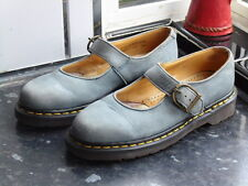 WOMEN'S BLUE/GREY DR.MARTENS 3516Z MARY JANE MADE IN ENGLAND SHOES SIZE UK 6