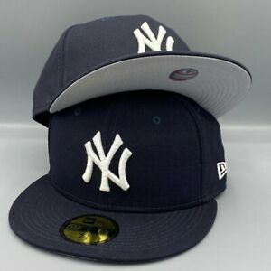 New York Yankees Basic New Era Flag 59FIFTY Navy Fitted Hat