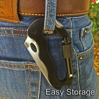 7 in 1 Multi-functional Knife Updated Carabiner Keychain Camping Survival Gear