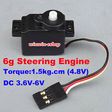 Micro 6g Steering Engine DC 3.6V-6V 1.5kg.cmTorque For Machine Arm&Robt&Aircraft