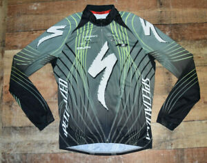 Specialized Cycling Long Sleeve Full Aip Men's Riding Jersey Size XL EUC B44