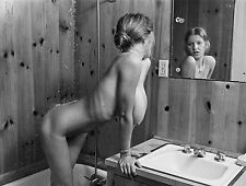 1960s Nude Roberta Pedon Triple DDDs in the shower 8 x 10 Photograph