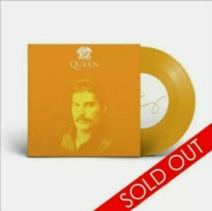 """'QUEEN' The Greatest, pop up store Carnaby St. 7"""" Yellow vinyl, Sold out!"""
