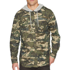 NEW UNIONBAY Men's Campout Flannel Hoodie Shirt Size XL Camouflage Long Sleeve