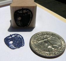 P24 Miniature apple rubber stamp WM