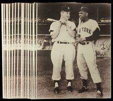 MICKEY MANTLE & WILLIE MAYS 11x14 SEPIA PRO PRINT PHOTOS NY YANKEES vs NY GIANTS