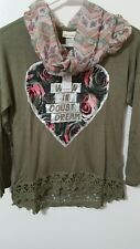 Girls' Self Esteem Long Sleeve with scarf and necklace - Size S