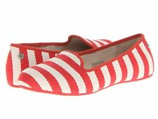 Ugg Australia Women's Size 11 Red & White Stripe Alloway Flat Shoe