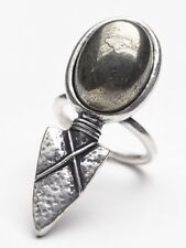 Rare Free People Arrow Stone Ring Size 6 Tribal Arrowhead Boho Statement Ring