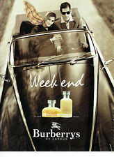 Publicité Advertising 078  1996   parfum week end homme  femme Burberrys  London