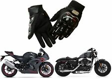 Black Carbon Fiber Motorcycle Gloves LARGE Yamaha Suzuki Honda New Free Shipping