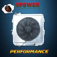 Aluminum Radiator + Fan Shroud For Toyota Hilux LN106 LN111 LN107 2.8L Diesel