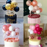 10x Mini Confetti Balloon Cake Topper Wedding Birthday Baby Shower Party Decors