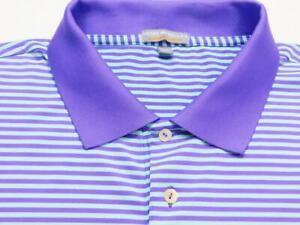 PETER MILLAR SUMMER COMFORT Stripe Short Sleeve Polo Shirt Sz XXL