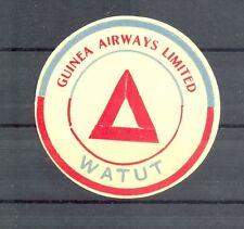 GUINEA WATUT - VINTAGE AIRMAIL LUGGAGE LABEL TO WATUT NG -AVIATION