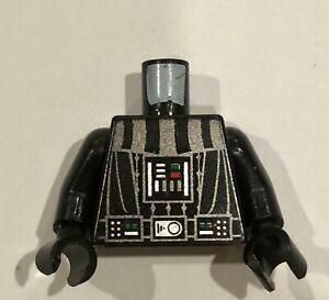 Lego Star Wars Torso Darth Vader Death Star Pattern Black Arms Hands