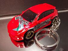 Red WRX STI Subaru Diescast Key Chain Ring