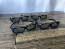 LOT OF 4 SONY 3D GLASSES MODEL TDG-BR250 RECHARGEABLE REGULAR SIZE