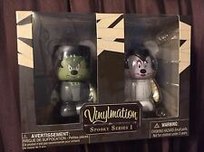 MICKEY & MINNIE MOUSE Disney Vinylmation Spooky Series #1, Frankenstein & Bride