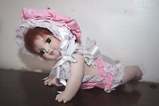 "Baby Jenny 9"" crawling doll Janis Berard Kais Porcelain"