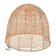 M&C Beach style Rattan Light Shade Hanging Ceiling Pendant in Natural  34 x 40cm