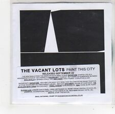 (FO226) The Vacant Lots, Paint This City - DJ CD