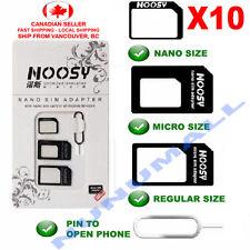 10x Noosy Nano Sim Card to Micro Sim Card Standard Sim Card Adapter Converter